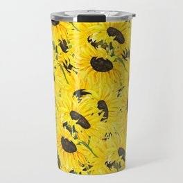sunflower pattern 2018 1 Travel Mug