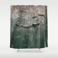 secret life Shower Curtains featuring Deep Secret by RichCaspian