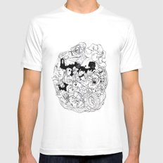 scum and villainy White MEDIUM Mens Fitted Tee