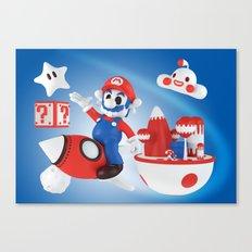 Skull Mario Space Jumper Canvas Print