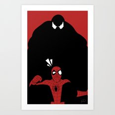 Spiderman (Ultimate) vs Venom Art Print