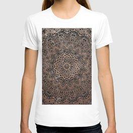 Mandala - rose gold and black marble 3 T-shirt
