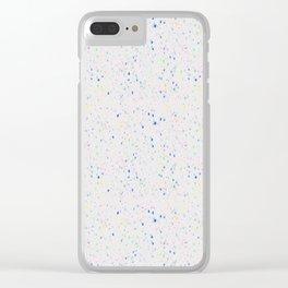 Terrazzo - Light grey Clear iPhone Case