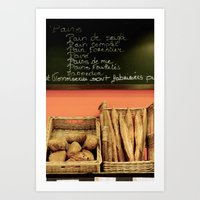 bread Art Prints featuring Bread by Stacey P Keating