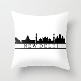 skyline new delhi Throw Pillow