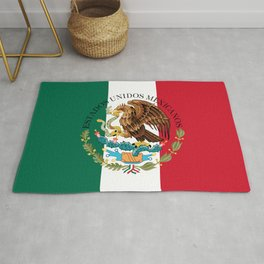 Flag of Mexico & Coat of Arms augmented scale Rug