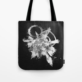 London, United Kingdom Black and White Skyround / Skyline Watercolor Painting (Inverted Version) Tote Bag