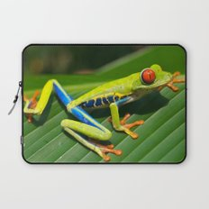 Green Tree Frog Red-Eyed Laptop Sleeve