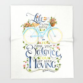 Like A Bicycle Throw Blanket