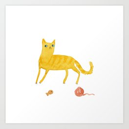 Nice Ginger Cat Art Print