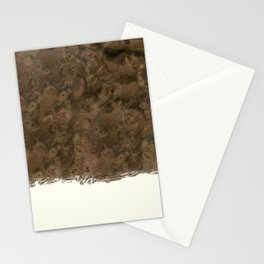Dipped Wood - Walnut Burl Stationery Cards