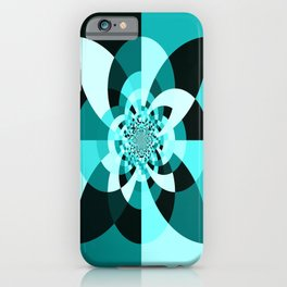 Aqua Kaleidscope iPhone Case