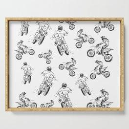 Dirt Motocross Motorbike Pattern Serving Tray