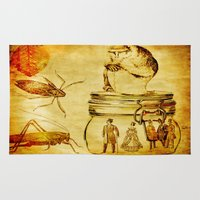 insects Area & Throw Rugs featuring The revenge of insects by Joe Ganech