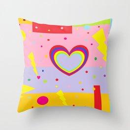 Cotton Candy Lightning Throw Pillow