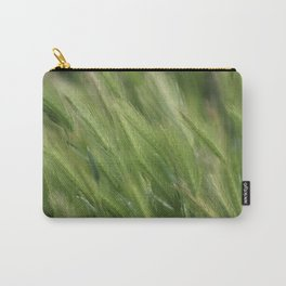 Hayseed Heads Wild Grass Utah in Rainforest Green Carry-All Pouch