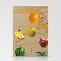 fruits Stationery Cards featuring Fruits by Nikolay Raikov