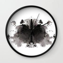 Rorschach test 4 Wall Clock