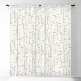 Beige / Light Warm Gray Retro Geometric Print Blackout Curtain