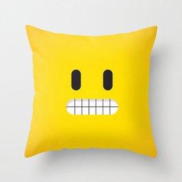 Grin emoji face Throw Pillow