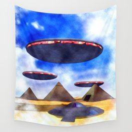 Ancient Aliens - UFO Pyramids Wall Tapestry