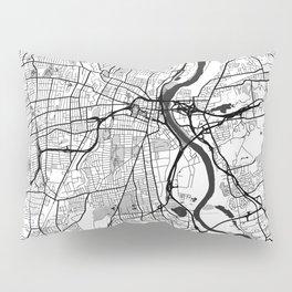 Hartford Map Gray Pillow Sham
