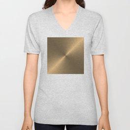 Circular metal brushed texture Unisex V-Neck