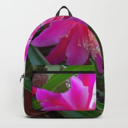 """BLOOMING FUCHSIA PINK """" ORCHID CACTUS"""" FLOWER Backpack"""
