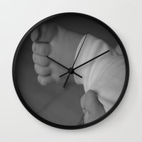 feet Wall Clocks featuring Feet by EnelBosqueEncantado