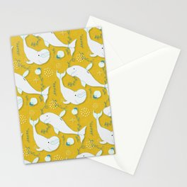 Beluga Whale Mustard #homedecor Stationery Cards