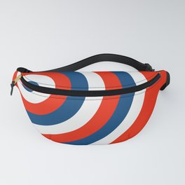 Retro Circles Pop Art - Red White & Blue Fanny Pack