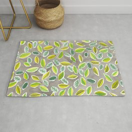 Leaf Watercolor Pattern by Robayre Rug