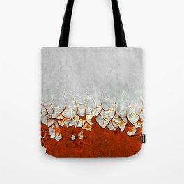 Rust and Grey Tote Bag