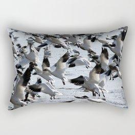 Oie des neiges - Snow Goose - ganso blanco Rectangular Pillow