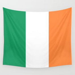 Irish Tricolour Green Orange and White Irish Flag Wall Tapestry