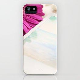 Gerbera, Phlox and Polaroids iPhone Case