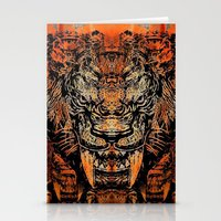 tooth Stationery Cards featuring Saber Tooth by Zandonai