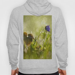 Beautiful spring - first flower little anemone with beautiful bokeh in green background Hoody