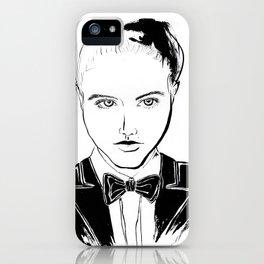 BALLROOM GIRL w BOWTIE iPhone Case