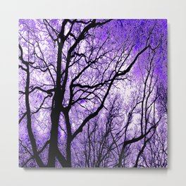 The Trees Know (purple) Metal Print