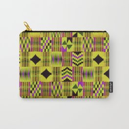 Kente Cloth // Fuego  & Violet-Red Carry-All Pouch