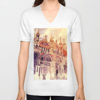 takmaj V-neck T-shirts featuring Venezia by takmaj
