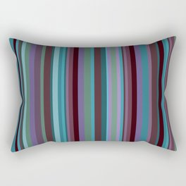 Retro Stripe in Blueberries and Orchids Rectangular Pillow