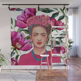 Woman with Crown of Flowers Wall Mural