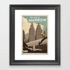 Grim Fandango Vintage Travel Poster - El Marrow Framed Art Print