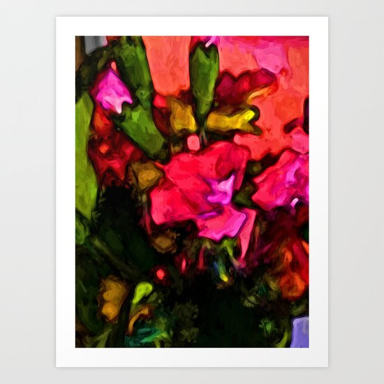 Beautiful Pink Flower with some Green Art Print