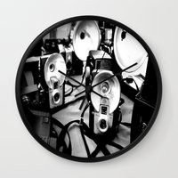 cameras Wall Clocks featuring Cameras by Yancey Wells