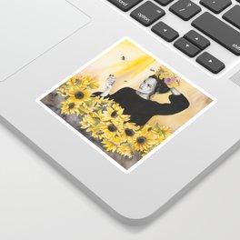 Sunflowers & Honey Bees Sticker