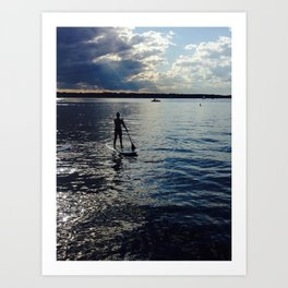 Paddle Away Art Print