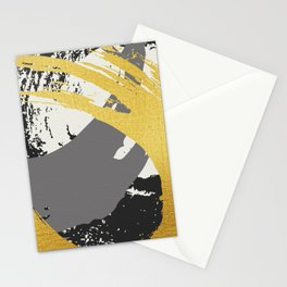 Black and Gold Brush Strokes AP178-9 Stationery Cards